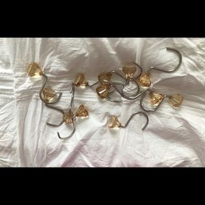 Gold Crystal Shower Curtain Hooks